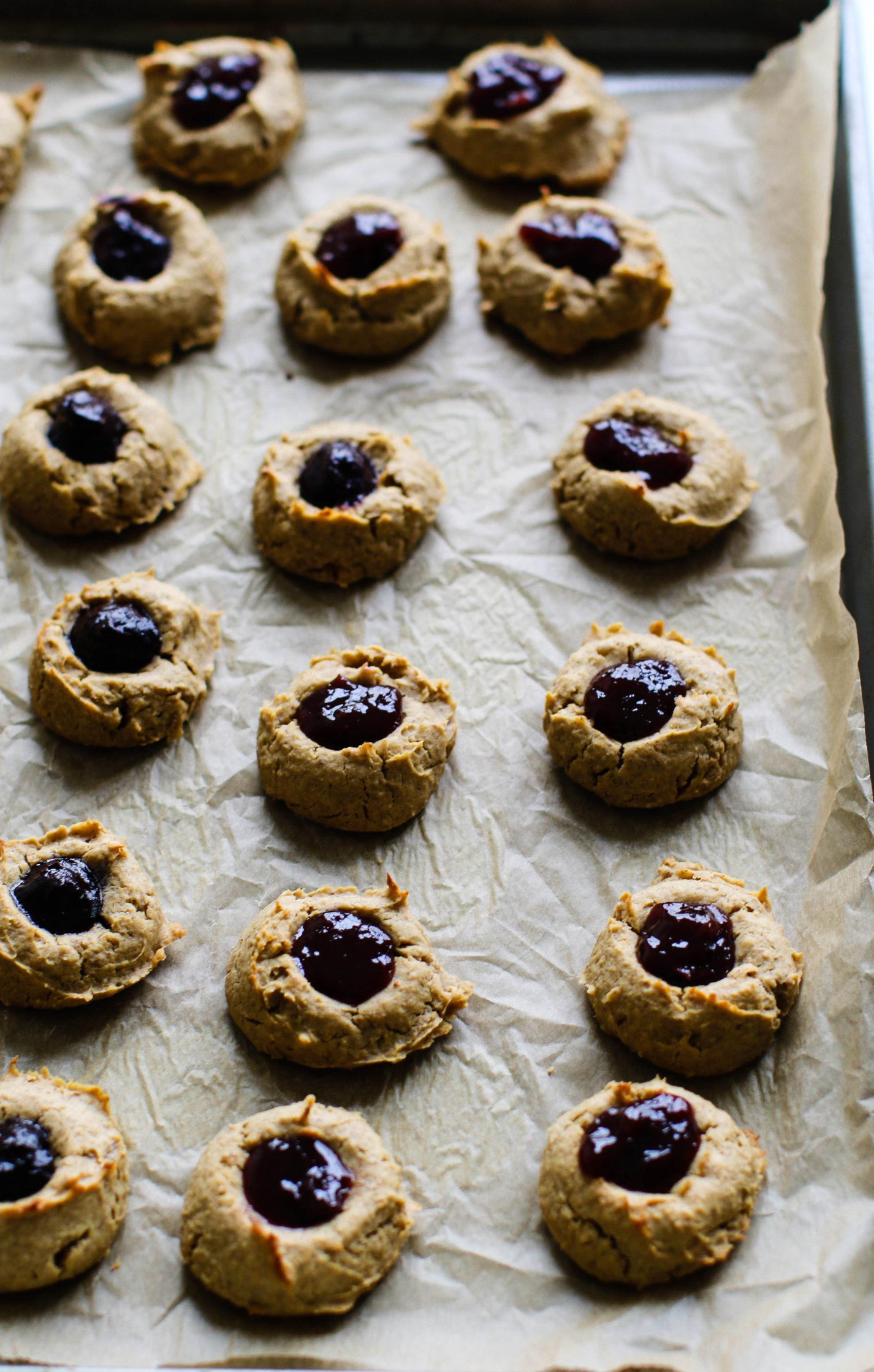 PB Jam 'N' Yam Thumbprint Cookies