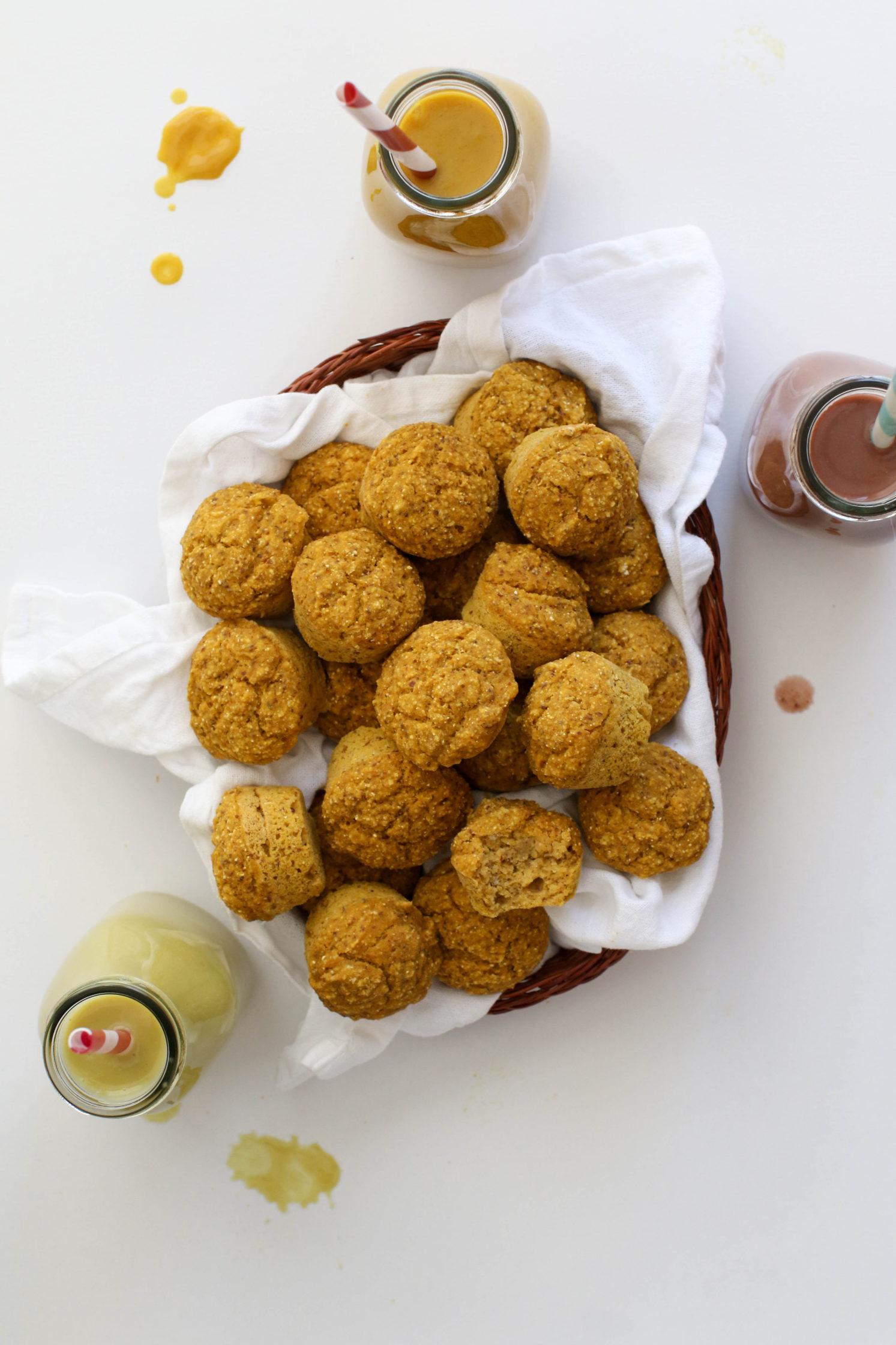 Pumpkin Cornbread Mini Muffins