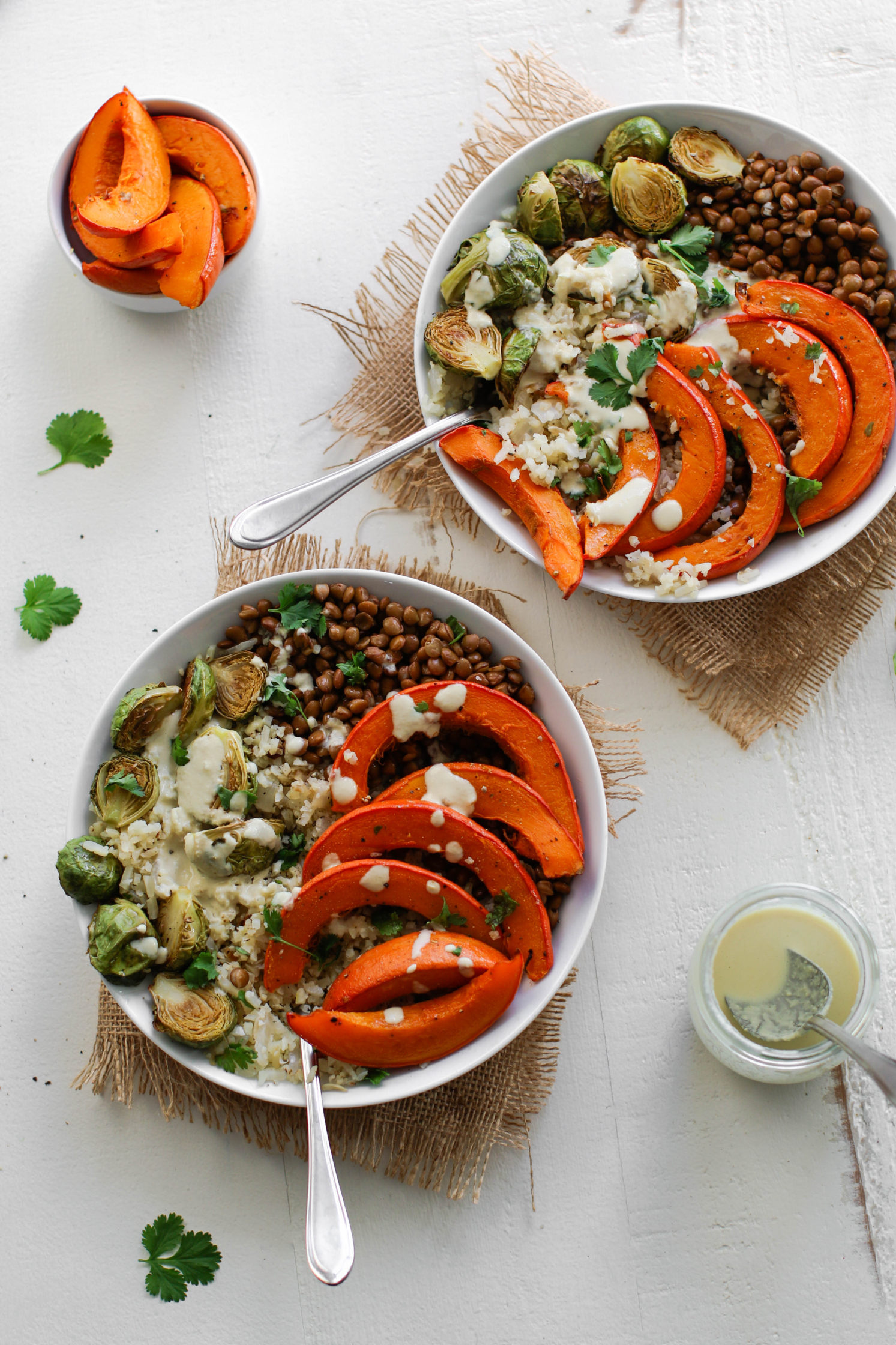 Lentil & Winter Squash Cauliflower Rice Power Bowl