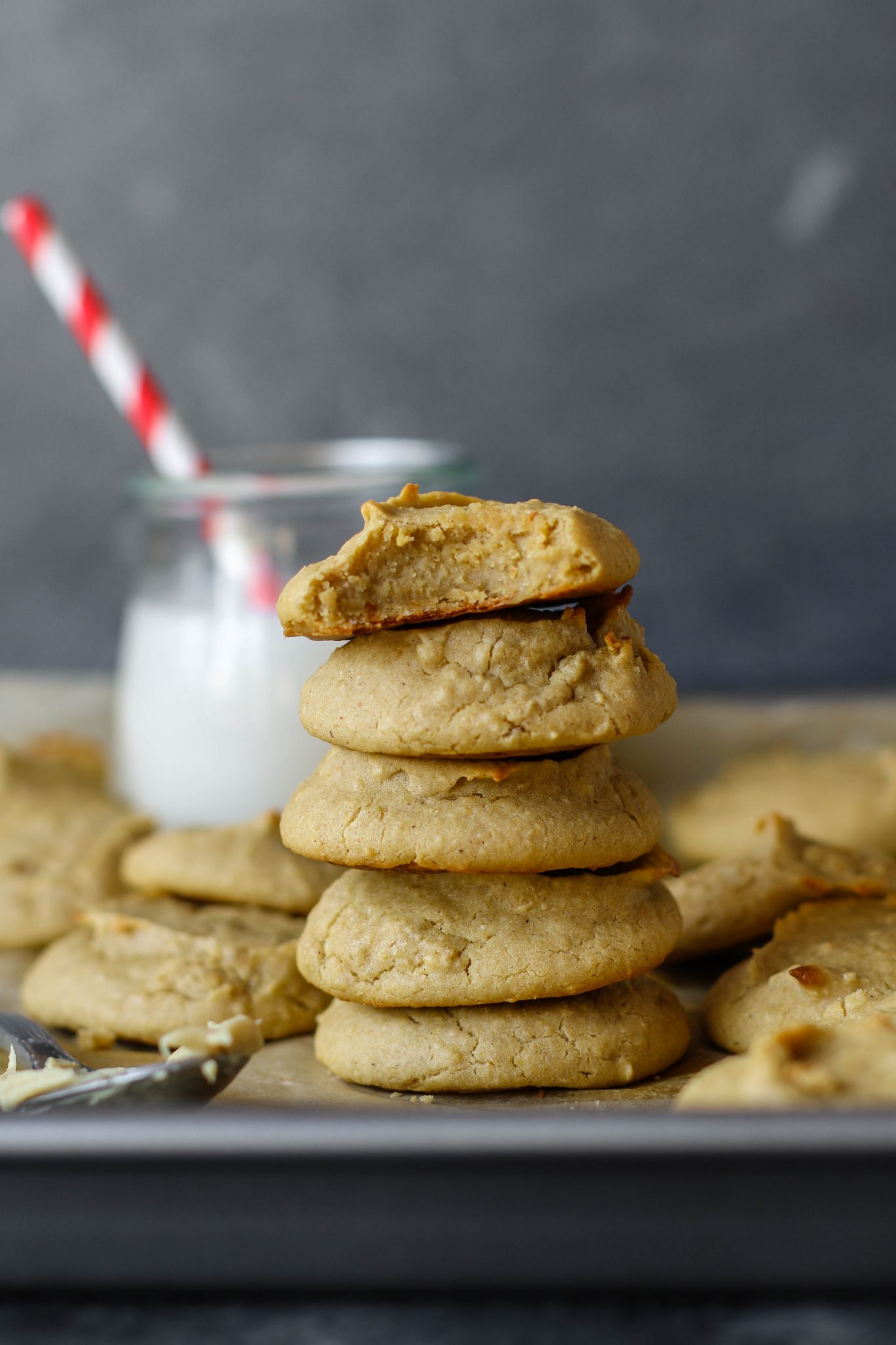 Cashew Butter Chickpea Snack Cookies by Flora & Vino
