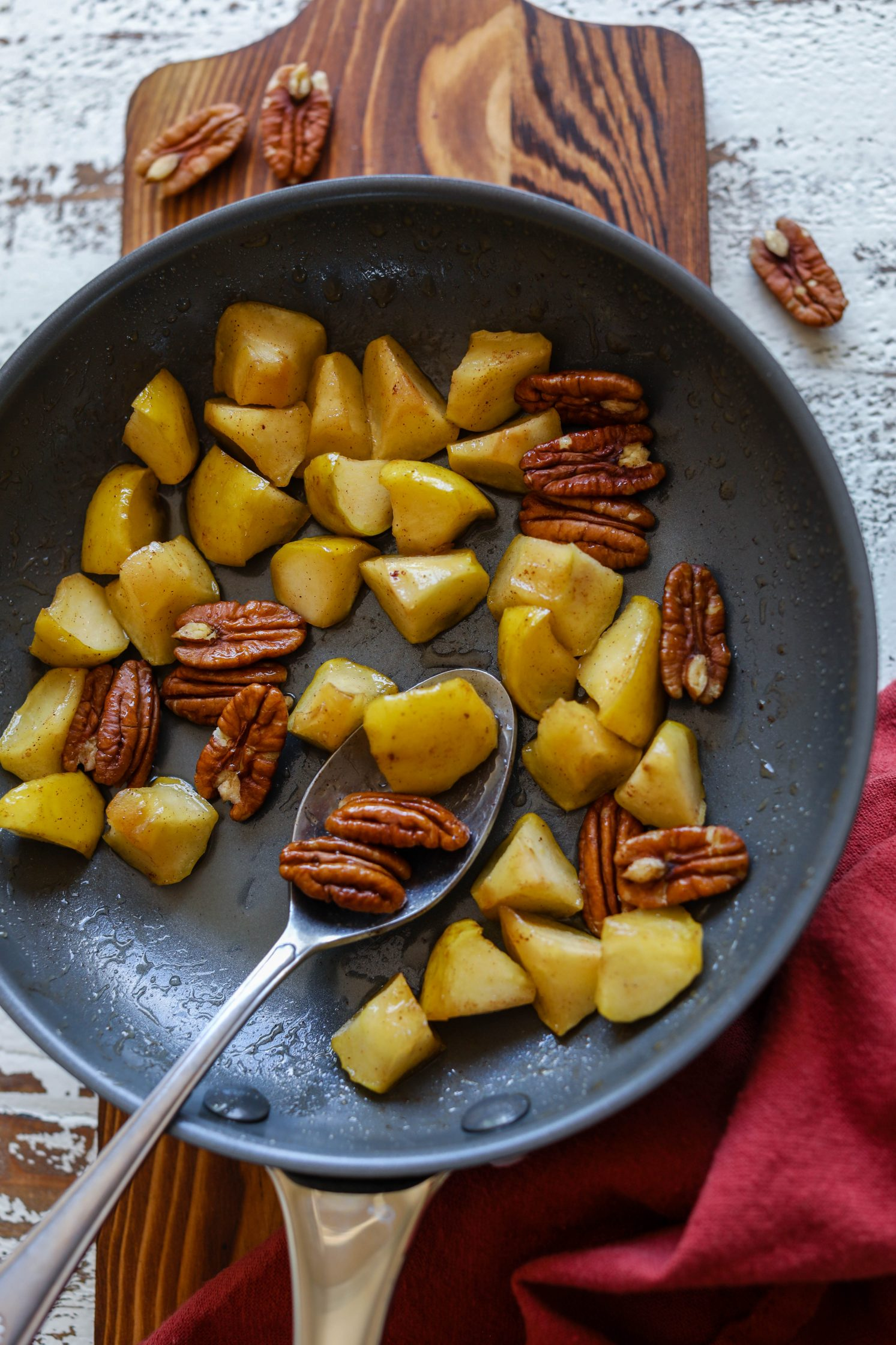 Sautéed Apples with pecans by Flora & Vino