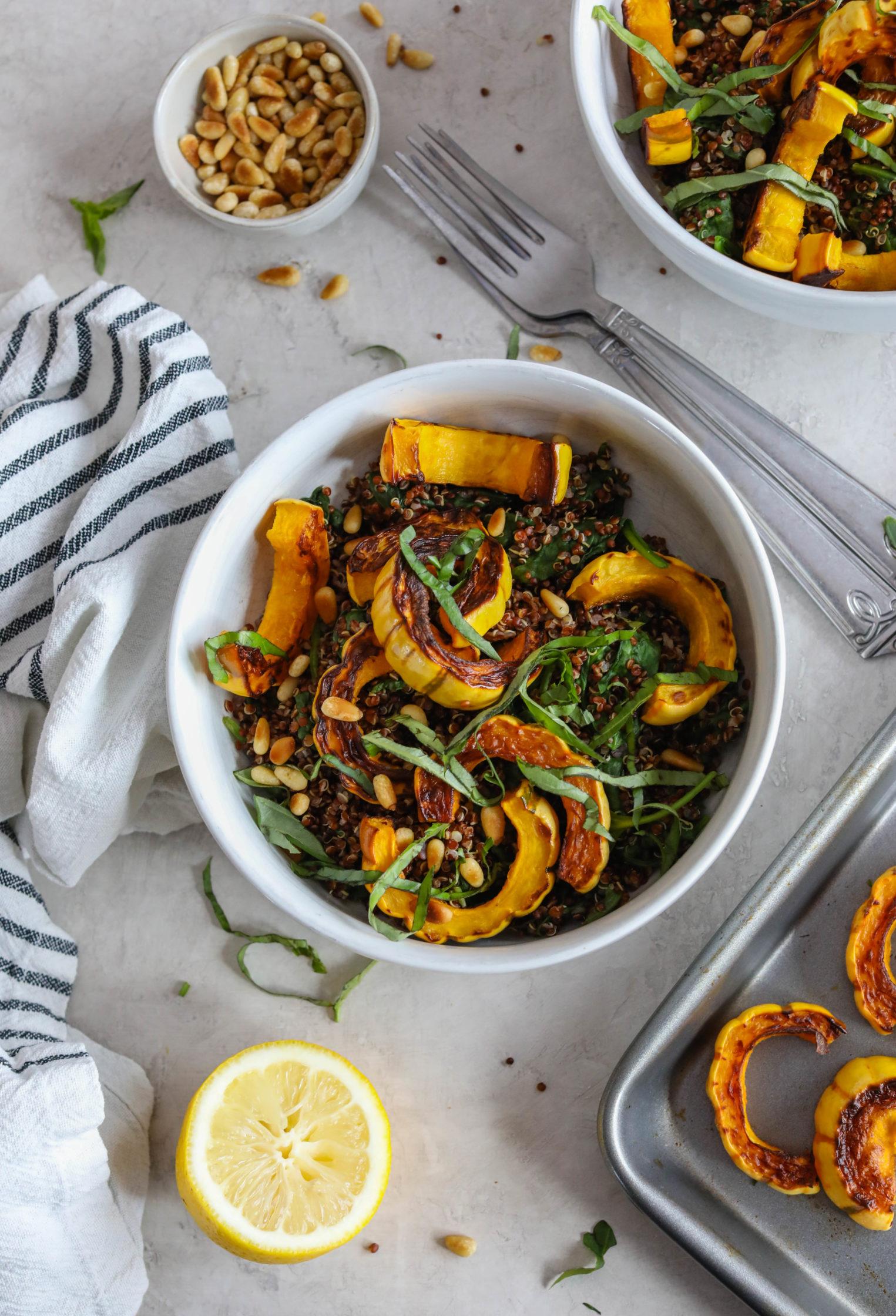 Delicata Squash Quinoa Power Bowl by Flora & Vino