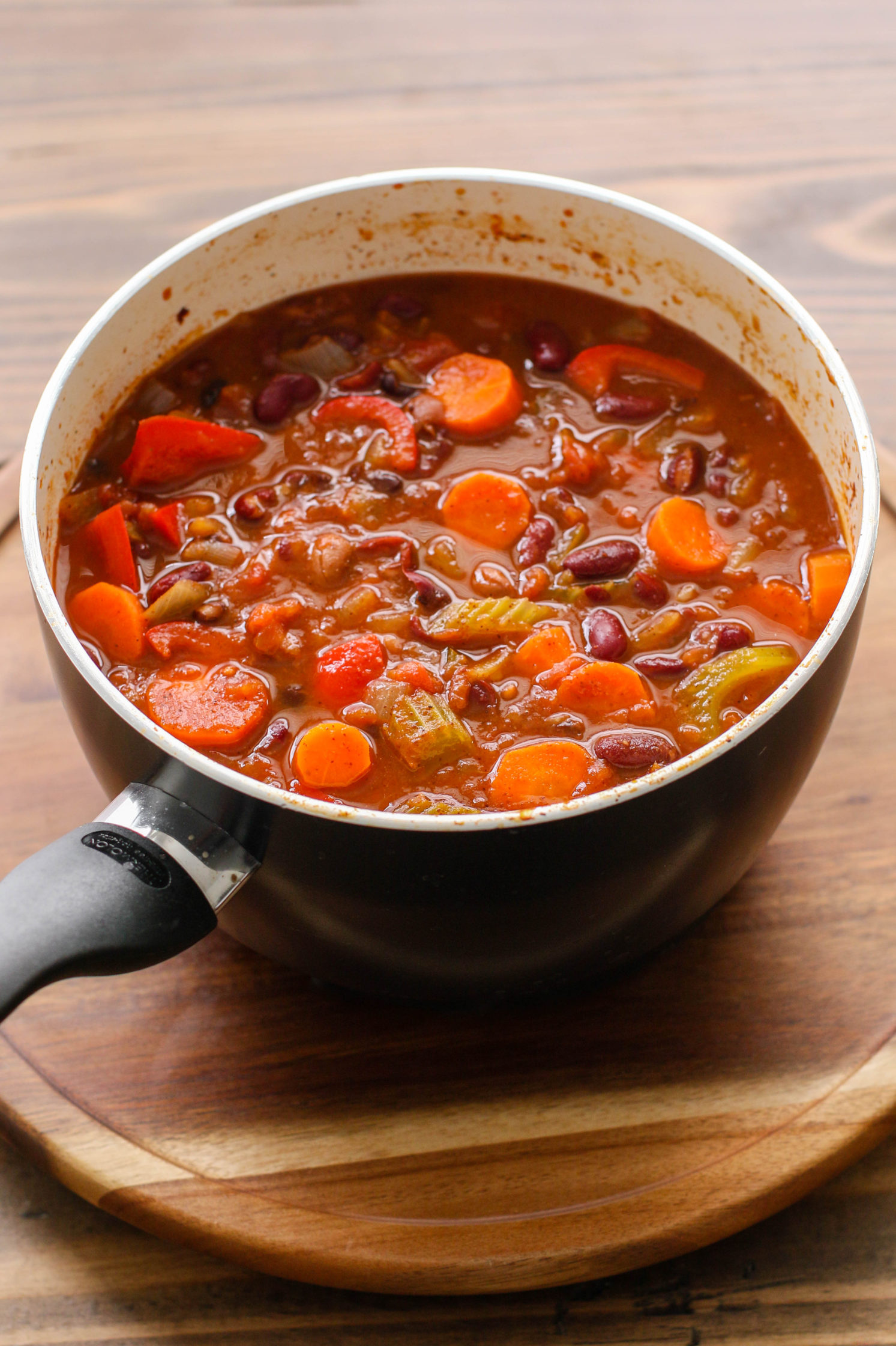 """Clean out the Fridge"" Vegetable Chili by Flora & Vino"