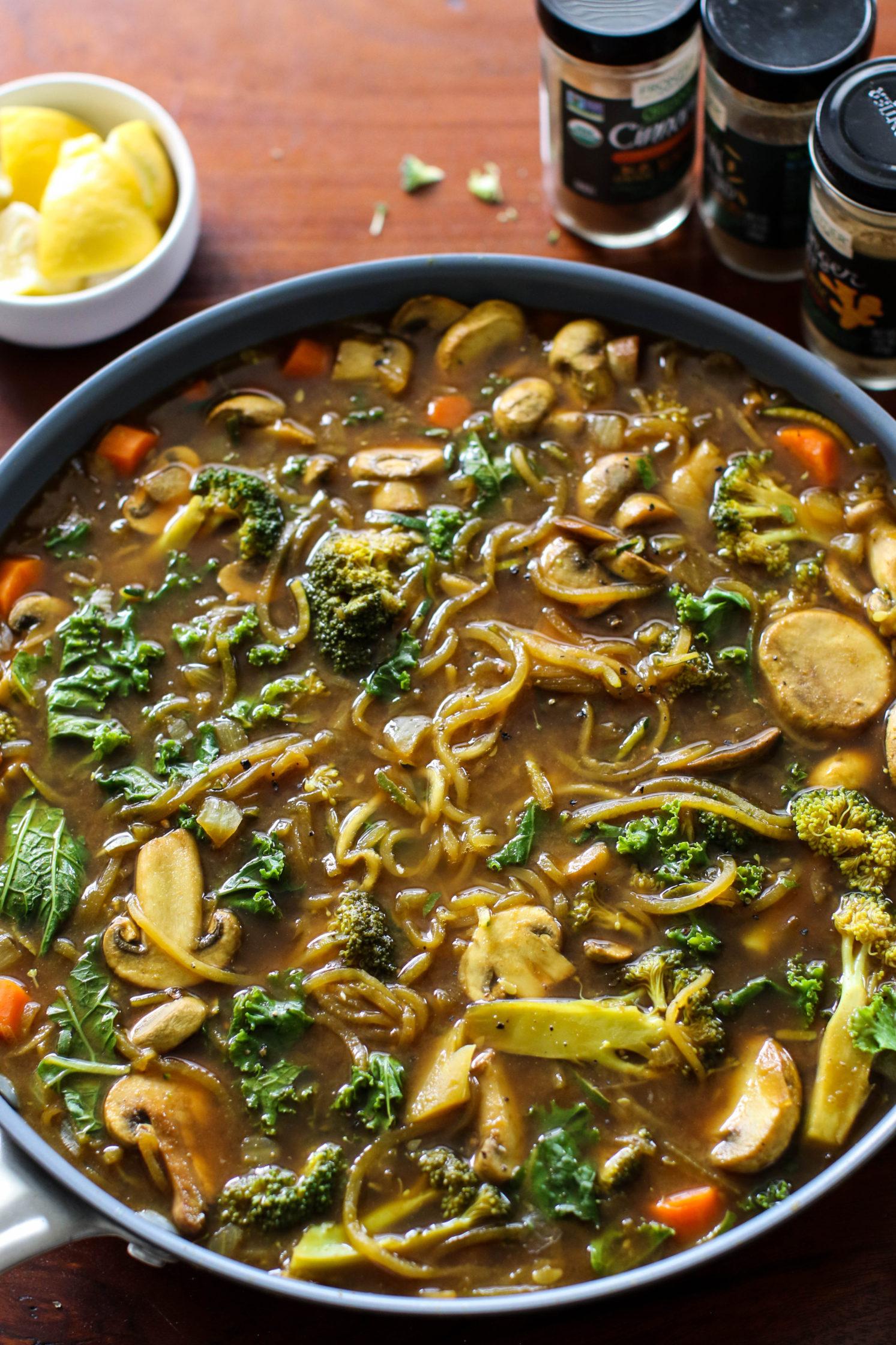 Detox Zoodle Soup (Oil-Free)