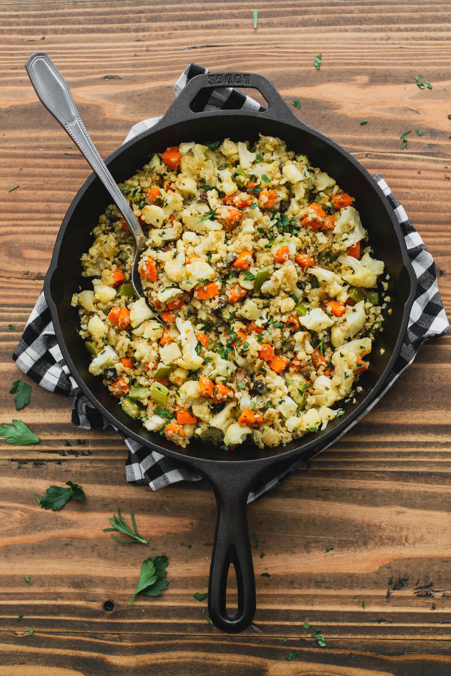 Stovetop Cauliflower Rice Stuffing Flora Vino