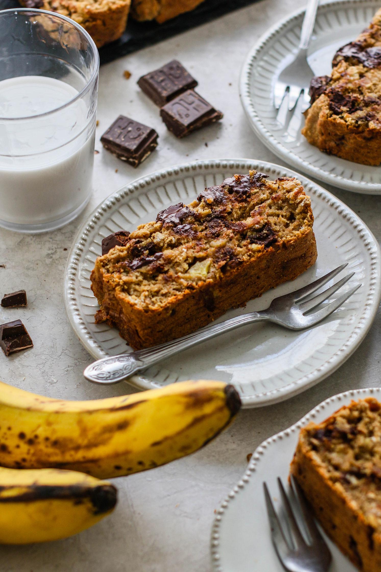 Vegan & GF Banana Chocolate Chunk Bread by Flora & Vino