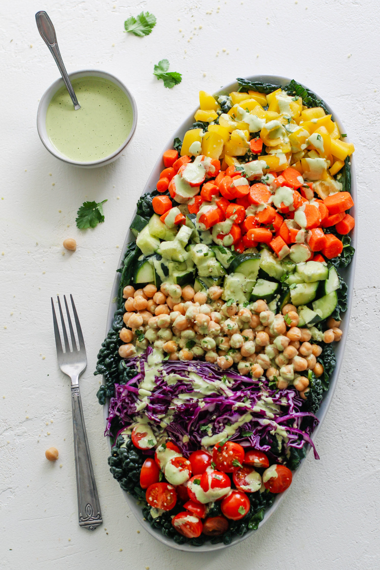 Chop't Chickpea Salad with Green Cilantro Tahini by Flora & Vino