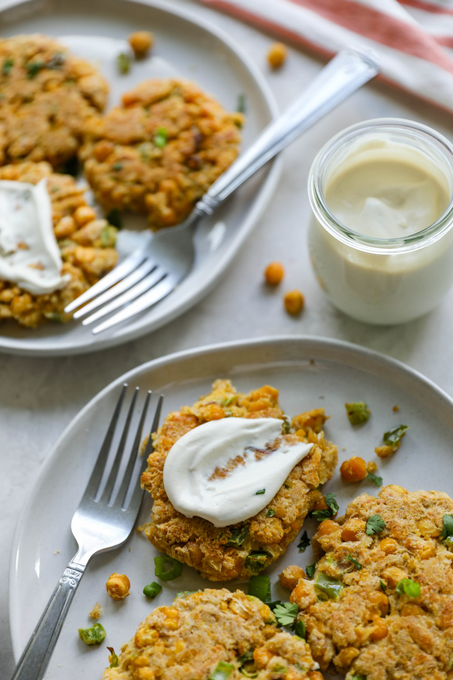 Chickpea Patties with Cashew Mayonnaise by Flora & Vino