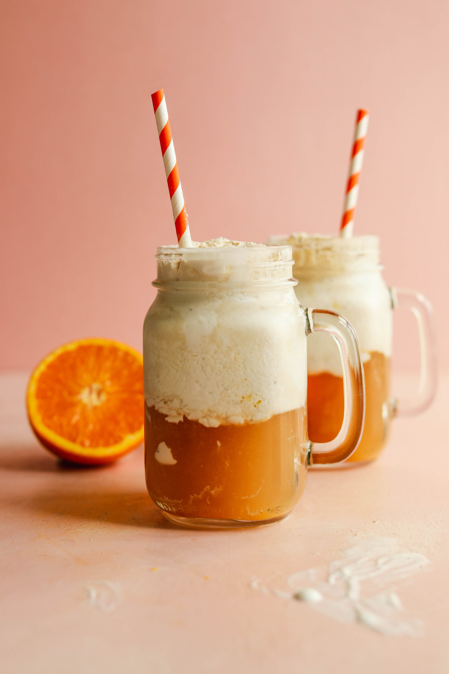 Easy Orange Kombucha Float by Flora & Vino