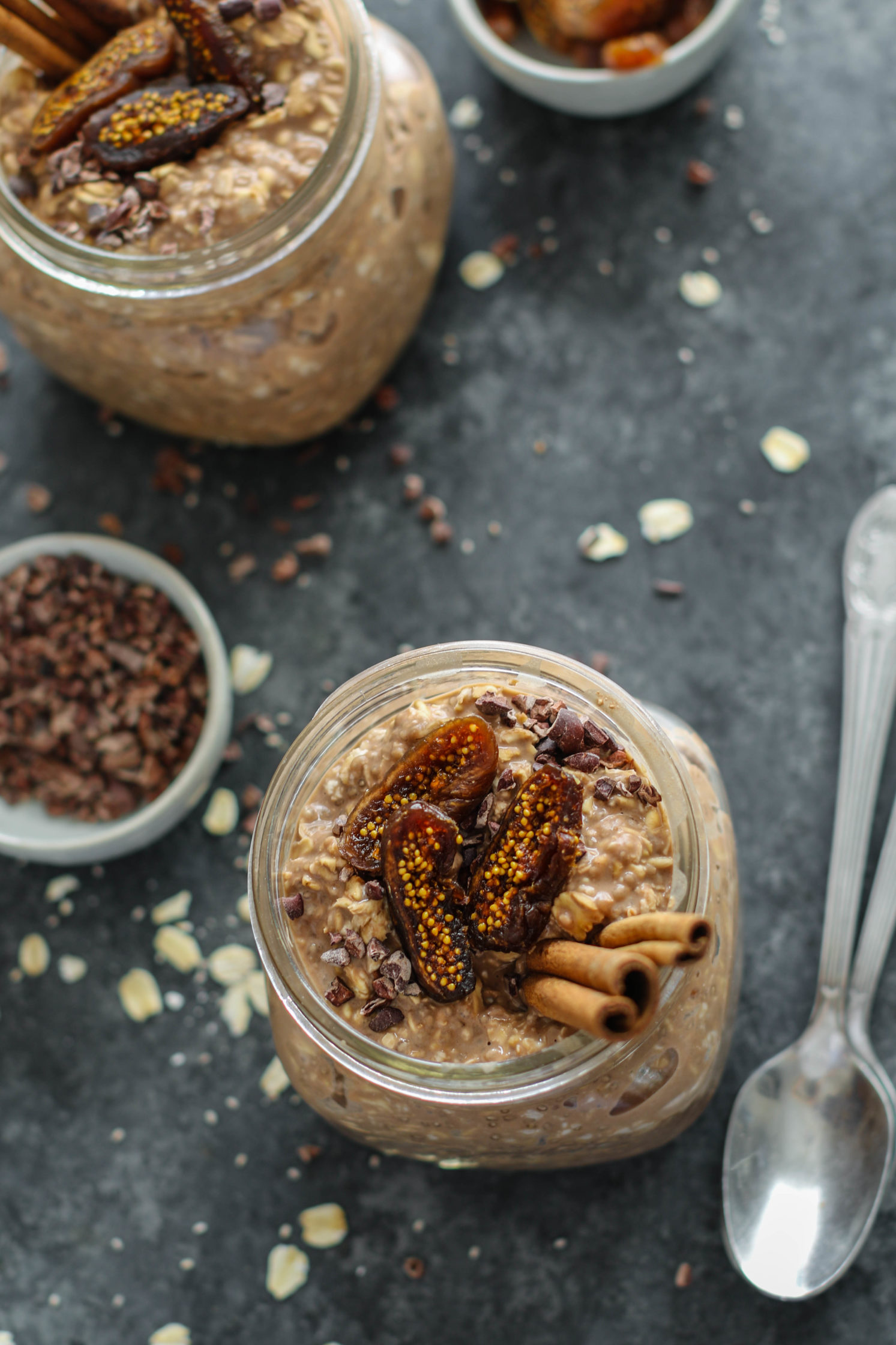 Chocolate Chia Chai Overnight Oats by Flora & Vino