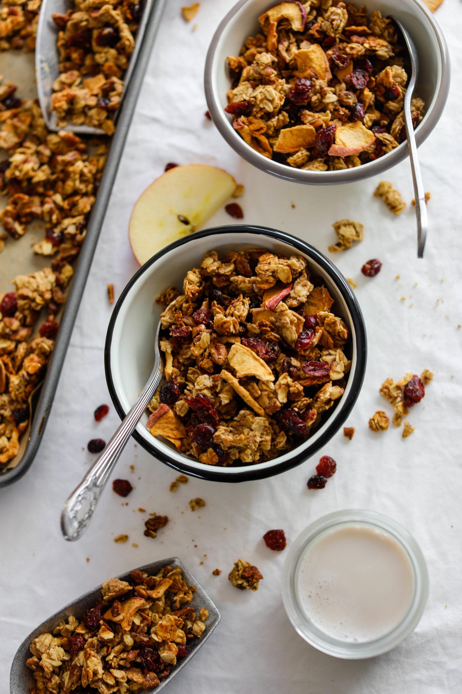 Apple Cranberry Pecan Granola by Flora & Vino