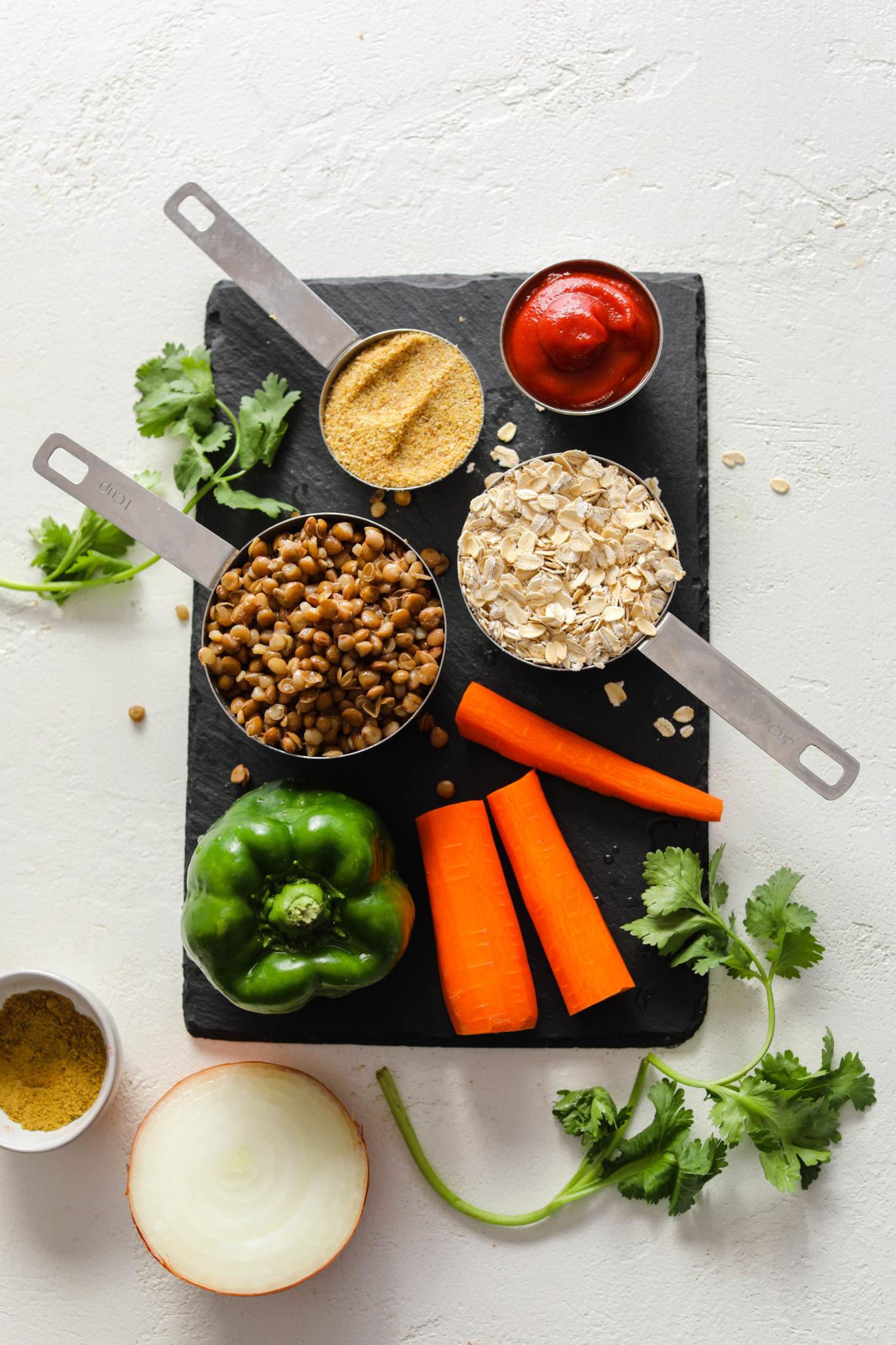 Lentil Oat Loaf (Vegan & Gluten-Free!) Ingredients