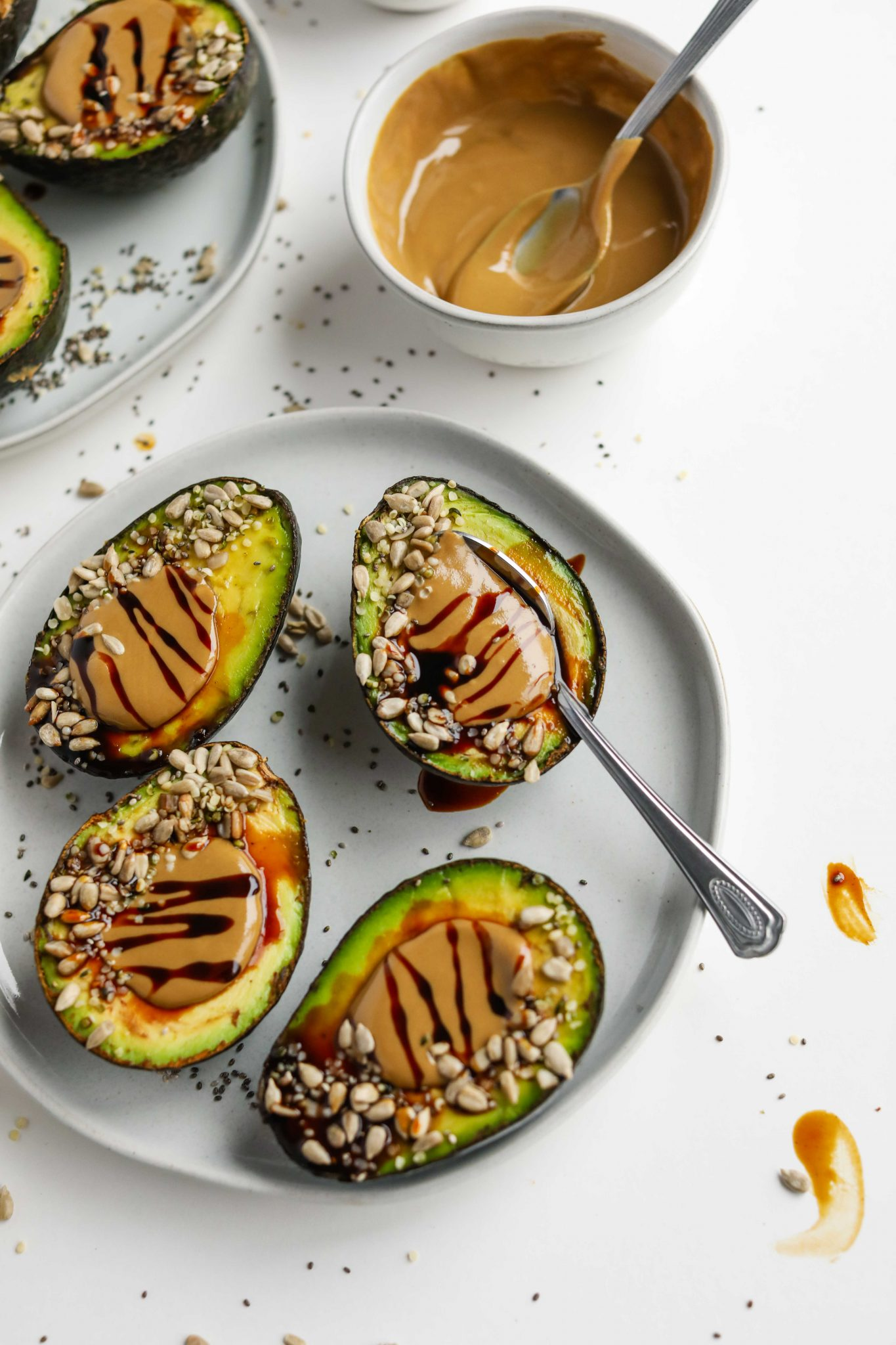Superseed SunButter Stuffed Avocados by Flora & Vino