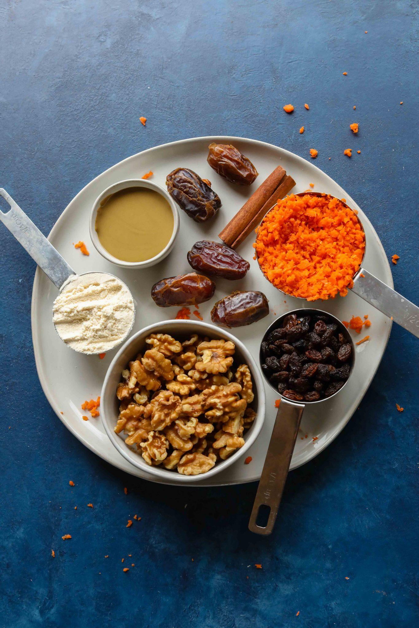Carrot Cake Bliss Balls (Grain-Free!) Ingredients