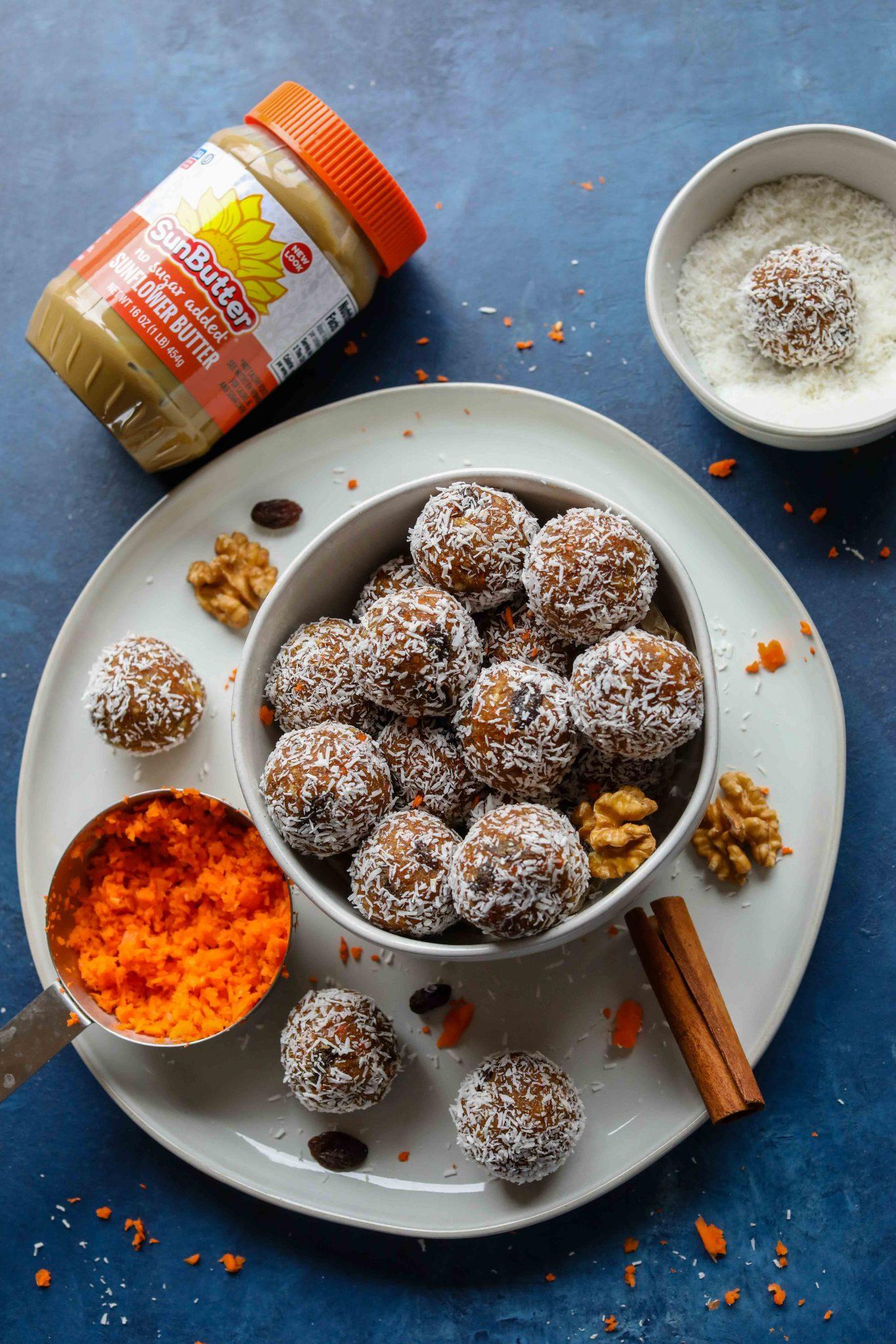 Carrot Cake Bliss Balls (Grain-Free!) by Flora & Vino