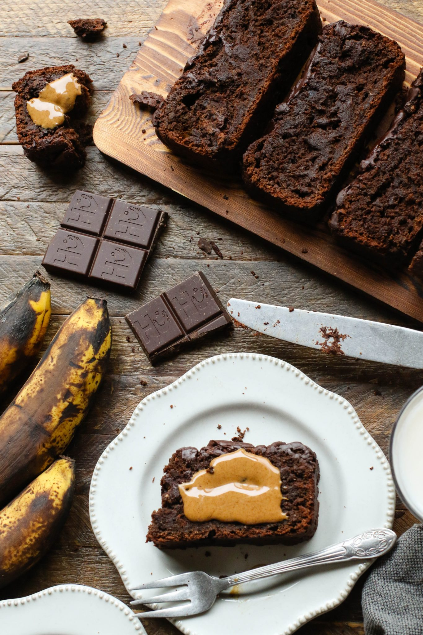 Double Chocolate Banana Bread by Flora & Vino