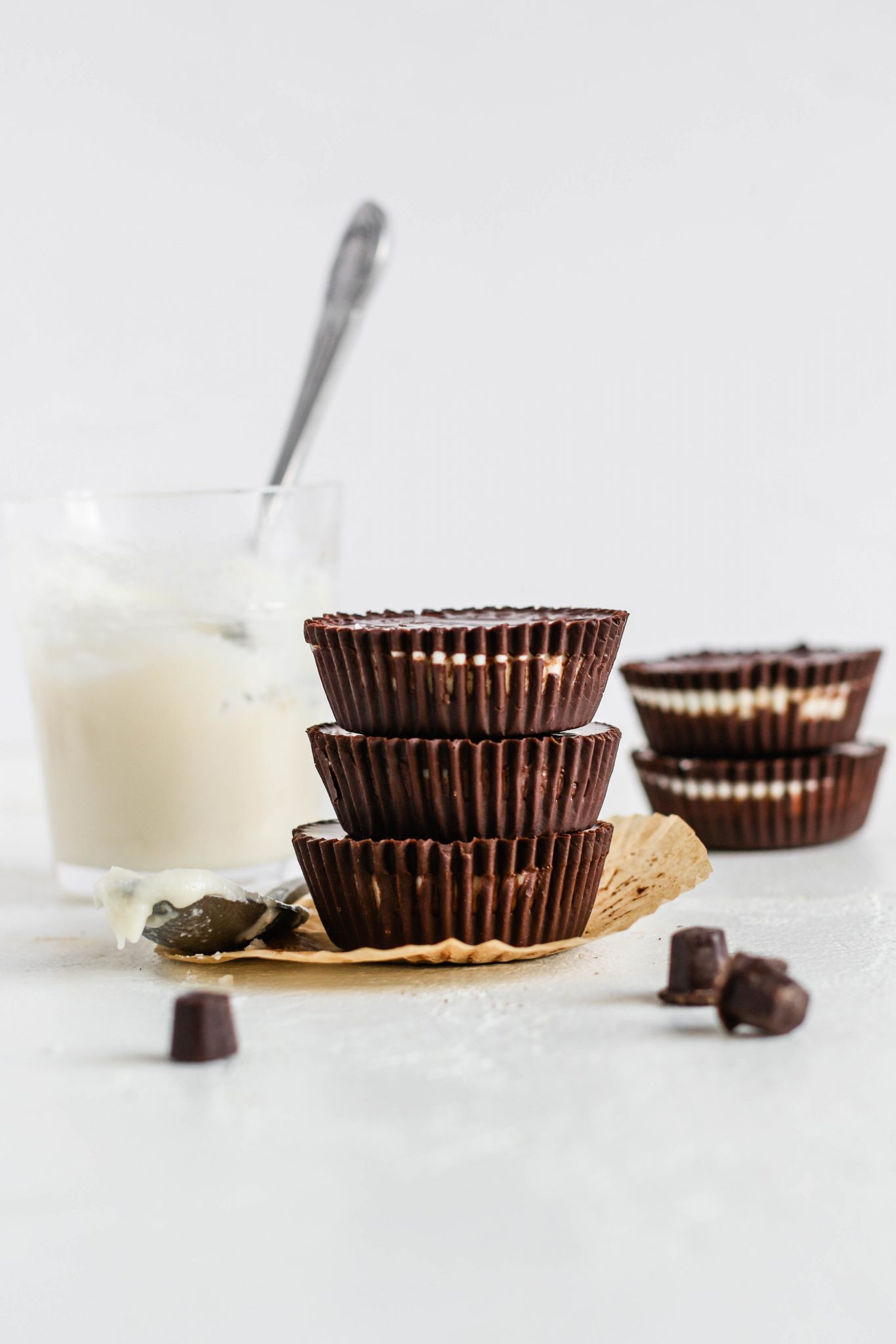 Dark Chocolate Coconut Butter Cups by Flora & Vino
